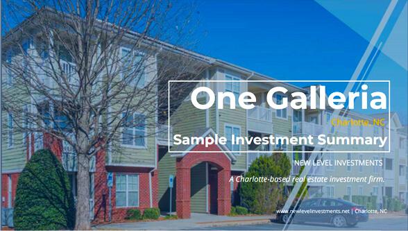 One Galleria - Multifamily Real Estate Investing